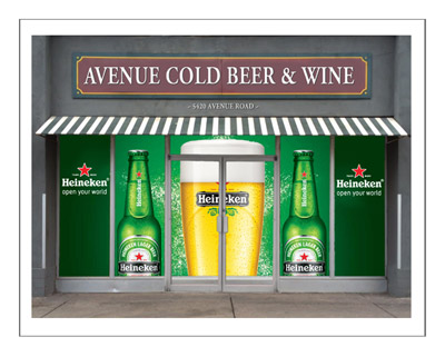 Heineken Window Decal