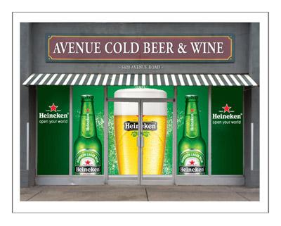 Heineken Window Decal