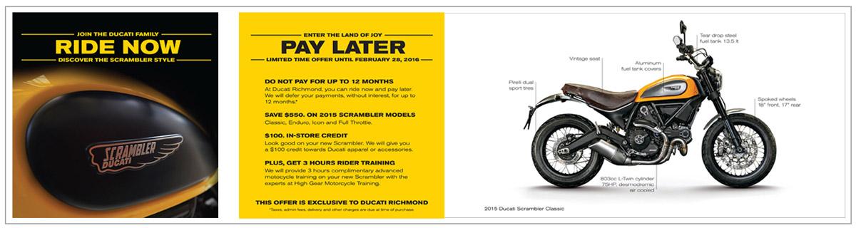 Ducati Scrambler brochure
